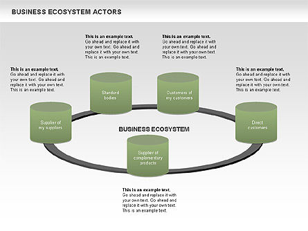 Business Ecosystem Actors Diagram, Slide 3, 00644, Business Models — PoweredTemplate.com