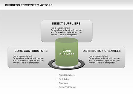Business Ecosystem Actors Diagram, Slide 4, 00644, Business Models — PoweredTemplate.com