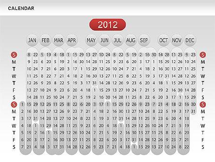 Calendar 2012, Slide 2, 00646, Timelines & Calendars — PoweredTemplate.com