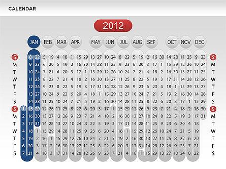 Calendar 2012, Slide 3, 00646, Timelines & Calendars — PoweredTemplate.com