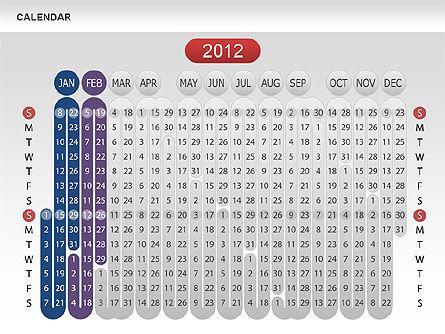 Calendar 2012, Slide 4, 00646, Timelines & Calendars — PoweredTemplate.com