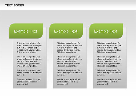 Text Boxes with Marks Collection, 00647, Text Boxes — PoweredTemplate.com