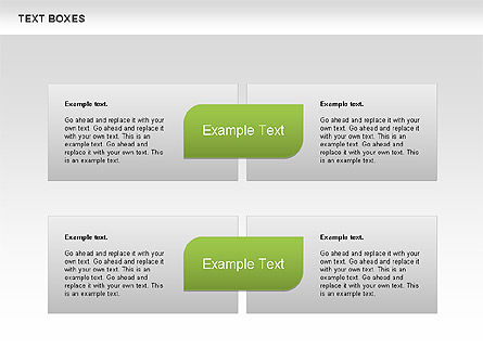 Text Boxes with Marks Collection, Slide 4, 00647, Text Boxes — PoweredTemplate.com