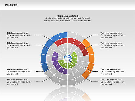 Radial Charts, Slide 3, 00648, Pie Charts — PoweredTemplate.com