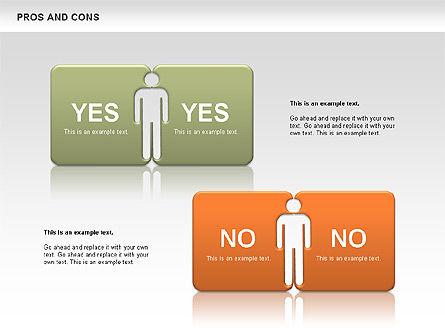 Pros and Cons, Slide 8, 00649, Business Models — PoweredTemplate.com