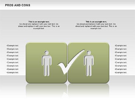 Pros and Cons, Slide 9, 00649, Business Models — PoweredTemplate.com