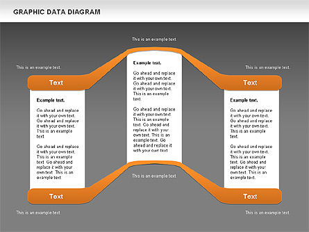 Graphics Data Diagram, Slide 15, 00651, Business Models — PoweredTemplate.com