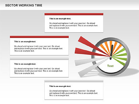 Working Time Process Diagram, 00653, Stage Diagrams — PoweredTemplate.com