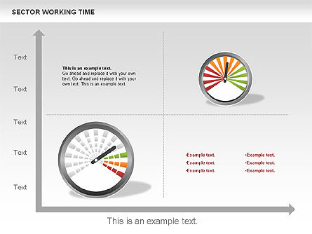 Working Time Process Diagram, Slide 10, 00653, Stage Diagrams — PoweredTemplate.com