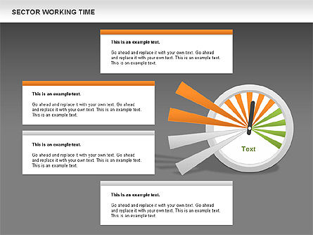 Working Time Process Diagram, Slide 11, 00653, Stage Diagrams — PoweredTemplate.com