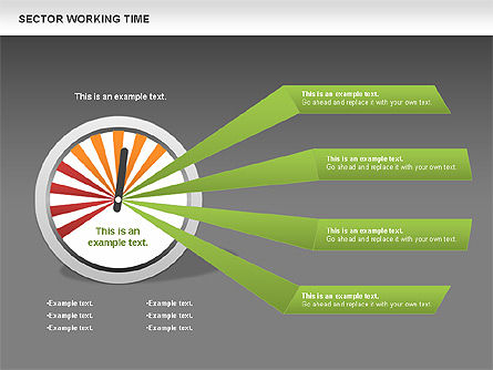 Working Time Process Diagram, Slide 13, 00653, Stage Diagrams — PoweredTemplate.com