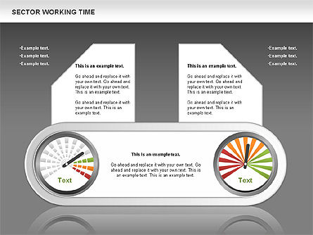 Working Time Process Diagram, Slide 14, 00653, Stage Diagrams — PoweredTemplate.com