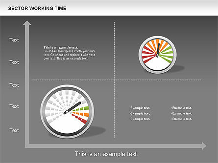 Working Time Process Diagram, Slide 15, 00653, Stage Diagrams — PoweredTemplate.com