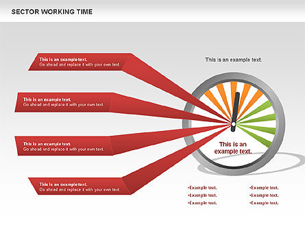Working Time Process Diagram, Slide 2, 00653, Stage Diagrams — PoweredTemplate.com