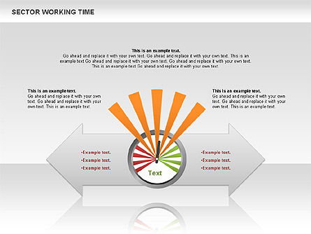 Working Time Process Diagram, Slide 3, 00653, Stage Diagrams — PoweredTemplate.com