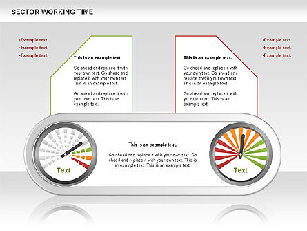 Working Time Process Diagram, Slide 7, 00653, Stage Diagrams — PoweredTemplate.com