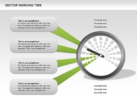 Working Time Process Diagram, Slide 9, 00653, Stage Diagrams — PoweredTemplate.com