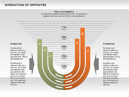 Interaction of Opposites Diagram, 00655, Business Models — PoweredTemplate.com