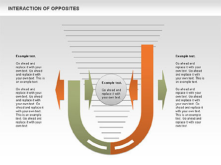 Interaction of Opposites Diagram, Slide 4, 00655, Business Models — PoweredTemplate.com
