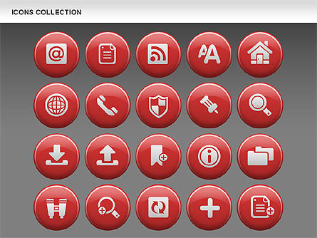 Internet Icons Collection, Slide 13, 00658, Icons — PoweredTemplate.com