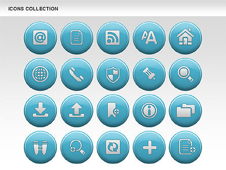 Internet Icons Collection, Slide 4, 00658, Icons — PoweredTemplate.com