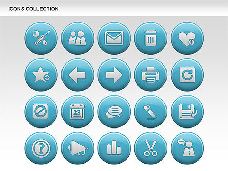 Internet Icons Collection, Slide 8, 00658, Icons — PoweredTemplate.com
