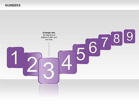 Numbers Collection, Slide 4, 00660, Shapes — PoweredTemplate.com