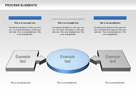 Process 3D Elements, Slide 4, 00661, Process Diagrams — PoweredTemplate.com
