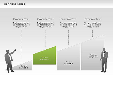 Process Steps Diagram, 00662, Process Diagrams — PoweredTemplate.com