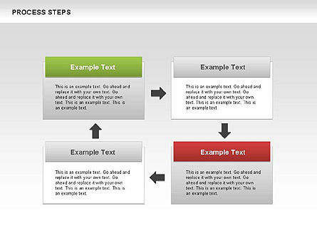 Process Steps Diagram, Slide 4, 00662, Process Diagrams — PoweredTemplate.com
