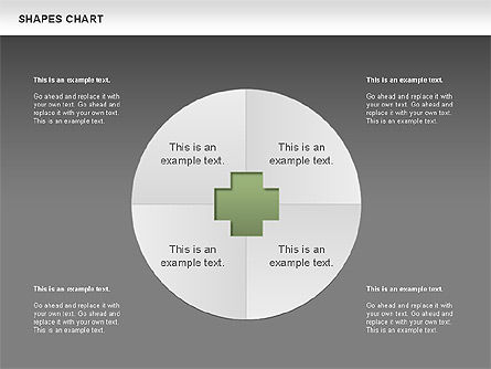 Shapes Diagrams Collection, Slide 10, 00665, Flow Charts — PoweredTemplate.com