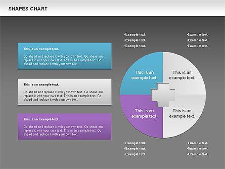 Shapes Diagrams Collection, Slide 11, 00665, Flow Charts — PoweredTemplate.com