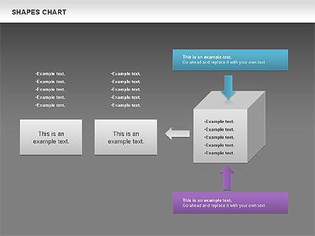 Shapes Diagrams Collection, Slide 12, 00665, Flow Charts — PoweredTemplate.com