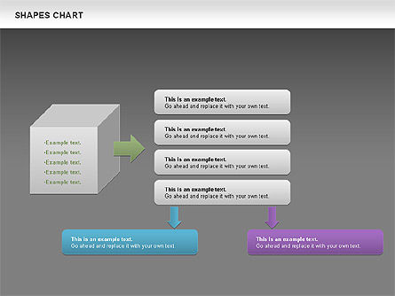Shapes Diagrams Collection, Slide 14, 00665, Flow Charts — PoweredTemplate.com