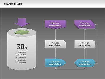 Shapes Diagrams Collection, Slide 15, 00665, Flow Charts — PoweredTemplate.com