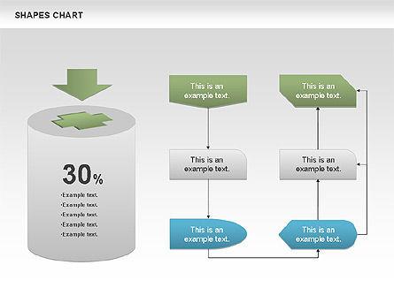Shapes Diagrams Collection, Slide 5, 00665, Flow Charts — PoweredTemplate.com