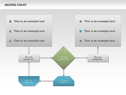 Shapes Diagrams Collection, Slide 6, 00665, Flow Charts — PoweredTemplate.com