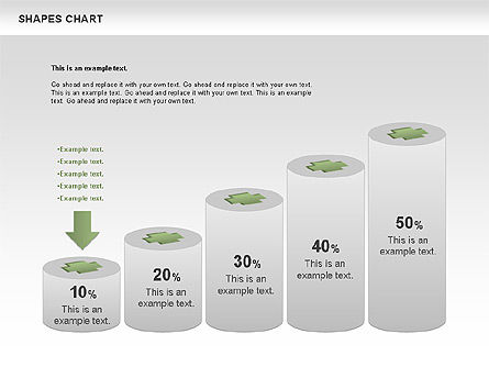 Shapes Diagrams Collection, Slide 7, 00665, Flow Charts — PoweredTemplate.com