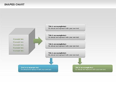 Shapes Diagrams Collection, Slide 8, 00665, Flow Charts — PoweredTemplate.com