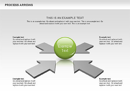 Processes with Arrows Diagram, 00666, Process Diagrams — PoweredTemplate.com