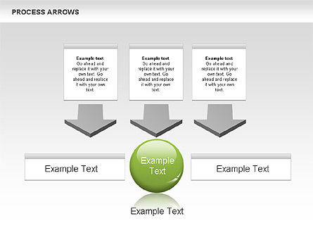 Processes with Arrows Diagram, Slide 2, 00666, Process Diagrams — PoweredTemplate.com