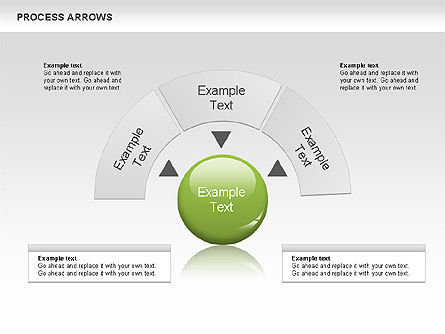 Processes with Arrows Diagram, Slide 3, 00666, Process Diagrams — PoweredTemplate.com