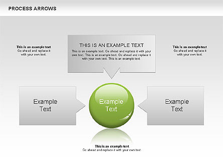 Processes with Arrows Diagram, Slide 4, 00666, Process Diagrams — PoweredTemplate.com