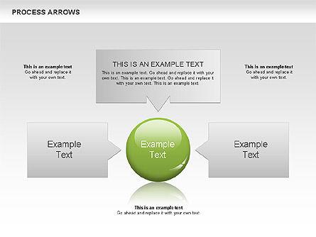 Processes with Arrows Diagram, Slide 4, 00666, Process Diagrams — PoweredTemplate.com