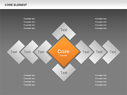 Core Element Diagram, Slide 11, 00667, Business Models — PoweredTemplate.com