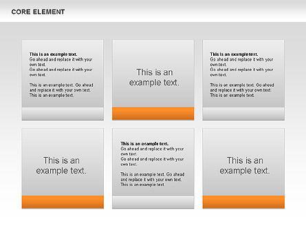 Core Element Diagram, Slide 2, 00667, Business Models — PoweredTemplate.com