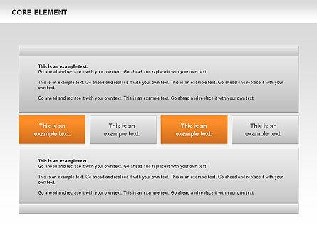 Core Element Diagram, Slide 3, 00667, Business Models — PoweredTemplate.com