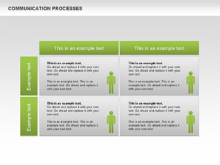 Communication Process Diagram, Slide 2, 00668, Process Diagrams — PoweredTemplate.com