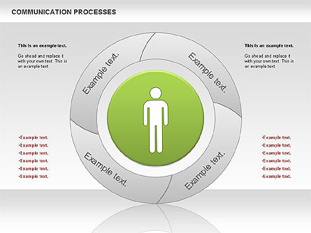 Communication Process Diagram, Slide 4, 00668, Process Diagrams — PoweredTemplate.com