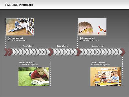 Timeline Process Diagram, Slide 10, 00671, Timelines & Calendars — PoweredTemplate.com